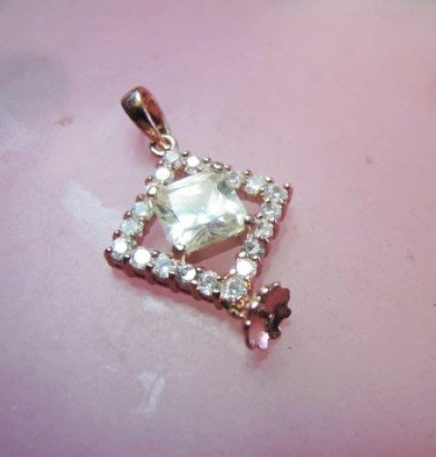 [一品軒庫存促銷品]義大利玫瑰包金925純銀.珍珠.玉石豪華造型.墜子台.