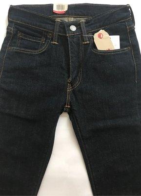 Levis 合身窄管原色牛仔褲