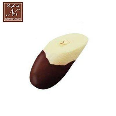 含稅 日本正版 香蕉片 巧克力款 捏捏吊飾 吊飾 捏捏樂 軟軟 CAFE DE N SQUISHY【618207】