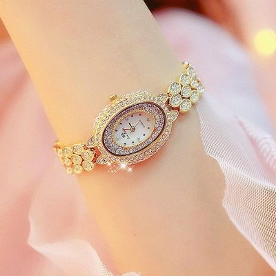 2018新款正品BS爆款防水熱賣手錶女高檔腕錶滿鑽品牌防水石英女錶