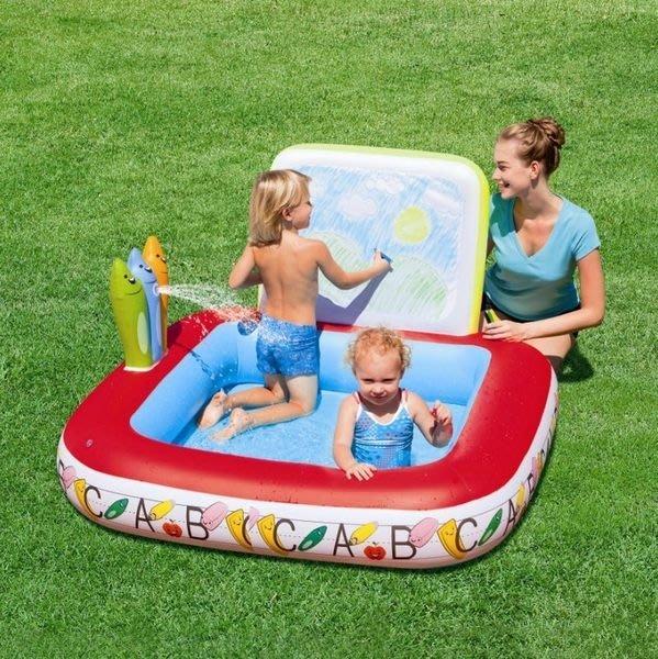歐美第一品牌 Bestway嬰幼兒童家庭繪畫娛樂戲水游泳池 CE ROSH認證 買一送一132*132*81CM.