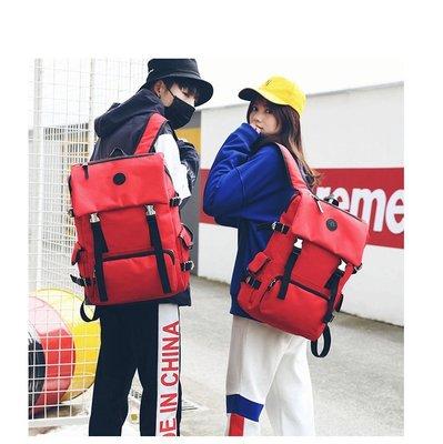 【 新和3C館 三色可選 】 2018新款帶蓋戶外旅行登山雙肩背包  情侶款後背包  休閒包 電腦包
