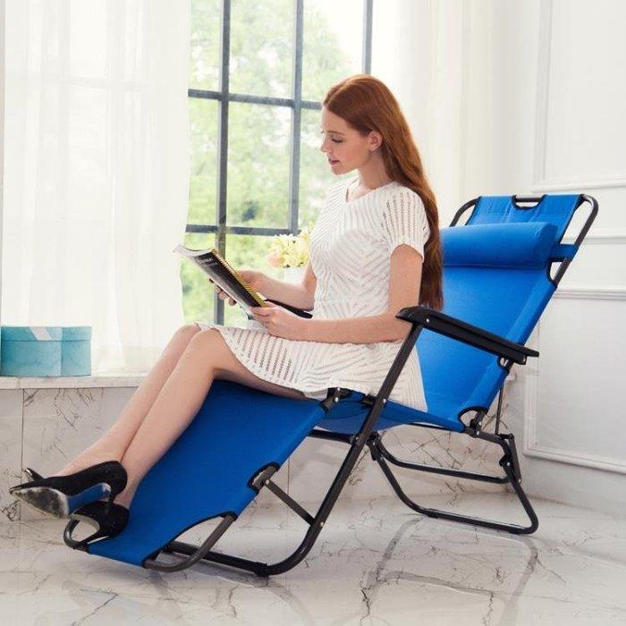 躺椅折疊椅多功能午休辦公室午睡床靠椅休息床便攜式床睡椅子家用YS