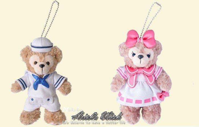 Ariel's Wish日本東京迪士尼Duffy達菲熊Shelliemay雪莉玫海軍水手服站姿珠鍊包包手機掛飾吊飾-現貨