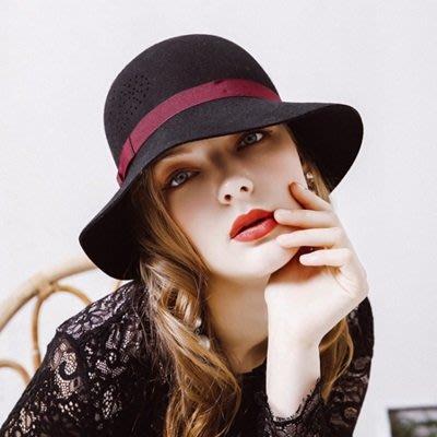 羊毛呢帽 盆 帽-優雅氣質時尚圓頂女帽子5色73tk16[獨家進口][米蘭精品]