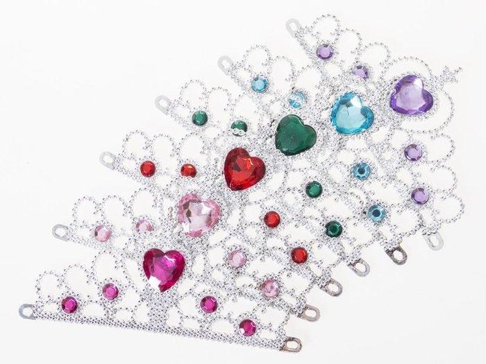 公主裝扮配件 萬聖節服裝 聖誕舞會 兒童變裝服– 皇冠  - 多色可選