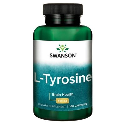 【活力小站】Swanson L-Tyrosine 左旋酪氨酸 500mg*100顆 -左旋酪胺酸
