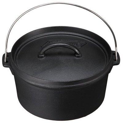 【大山野營】Coleman CM-9392 SF 荷蘭鍋 10吋 鐵鑄鍋 鑄鐵鍋 烤雞腿 壽喜燒