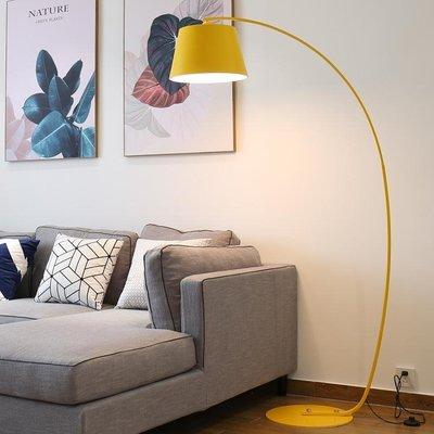 落地燈-客廳黃色釣魚燈簡約現代書房北歐個性創意沙發臥室裝飾地燈JY精品生活