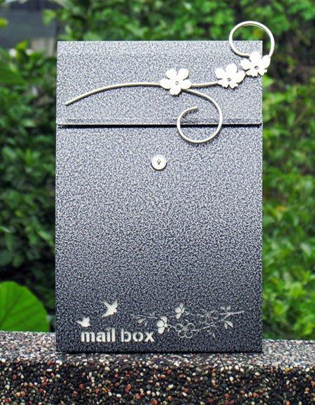 ☆成志金屬☆特仕加花款*高品質不鏽鋼信箱~日式質感風,此頁為設計師圖樣加花特別款