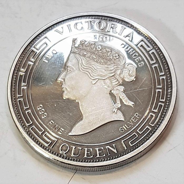 英國2安士銀章 1987 UK 100th Anniversary of Queen Victoria Medal.