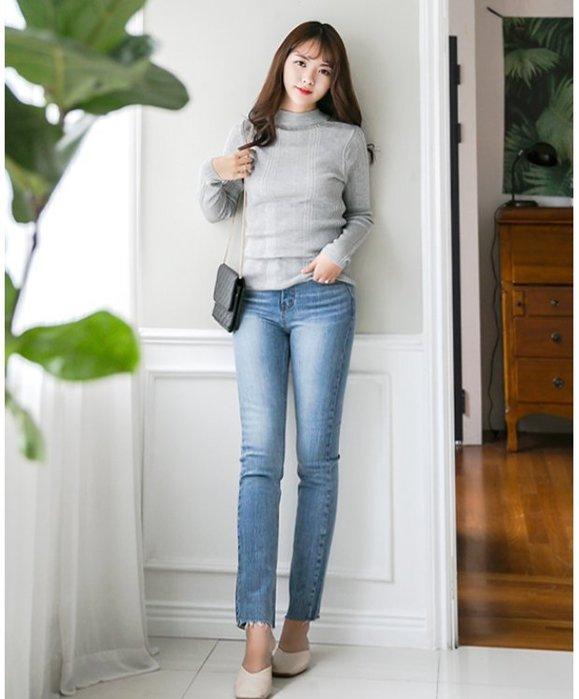 韓系丁丁。韓國空運 DARIMI 春夏新款 中等藍直筒褲 #2361 現貨S.L