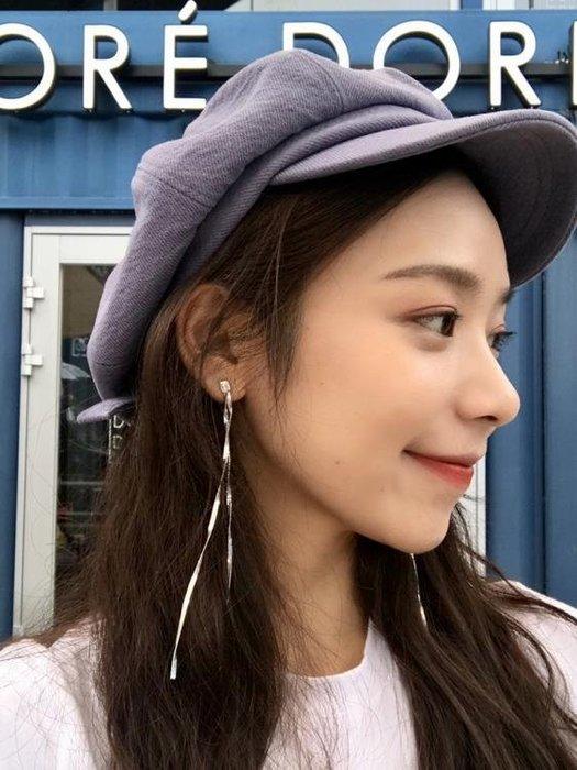 耳環一款兩戴后掛式顯臉瘦的長款耳環女簡約百搭金屬錬條流蘇耳釘E345