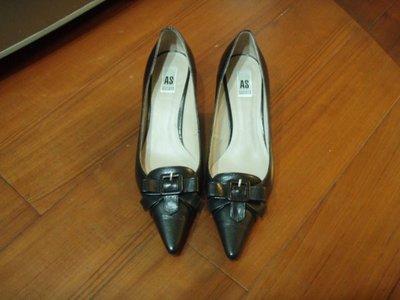 AS 黑色真皮高跟鞋 [ size:24.5 ]