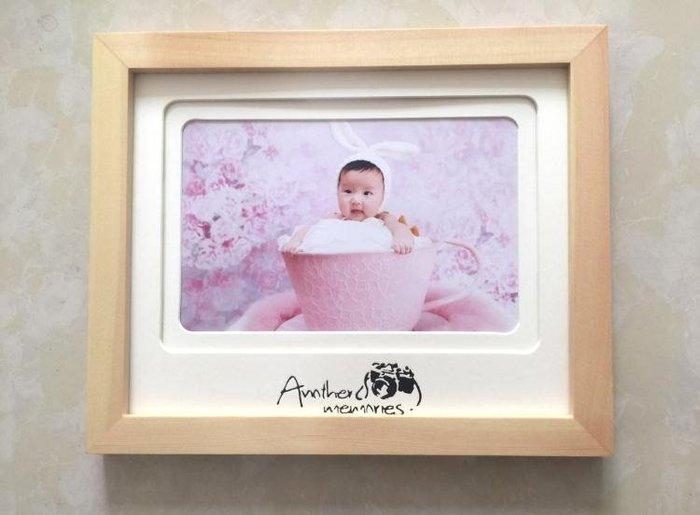 實木2寸8寸一孔四孔擺臺相框寶寶照婚照相框橫版豎版影樓工作室