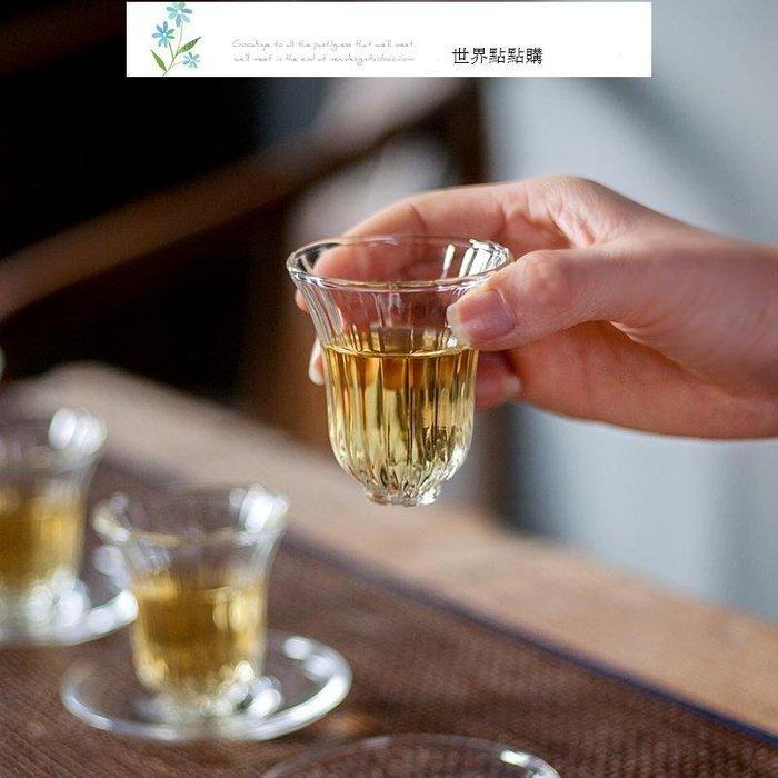 棱紋花口杯 耐高溫玻璃品茗杯 手工家用功夫茶小茶杯 日式個人杯 單杯 茶具 茶杯 送禮 收藏