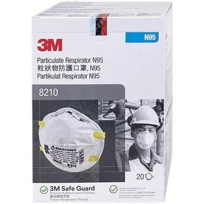 【小七旗艦店】台灣現貨 3M 8210 N95拋棄式防塵口罩 頭戴式 20個/盒 量大可議價