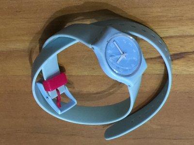 SWATCH 設計品牌錶 環繞  女錶 雙圈 石英錶 (皮革錶帶)