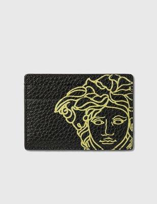 Versace - Pop Medusa Leather Card Case 男梅杜莎印花信用卡夾 折扣代購中