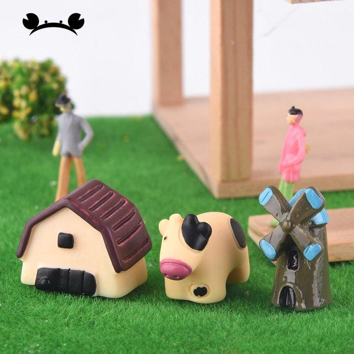滿250發貨)SUNNY雜貨-奶牛三件套 微景觀裝飾 建筑模型材料沙盤DIY手工擺件#模型#建築材料#DIY