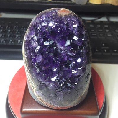 好犀晶-烏拉圭紫晶鎮 蛋型 高品項 紫水晶 紫到黑 財眼 超美瑪瑙邊
