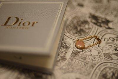 Dior ROSE DES VENTS 羅盤玫瑰 18k 玫瑰金粉紅蛋白石戒指 全新