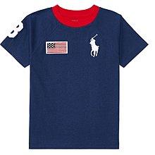 美國官網正版 RalphLauren Polo 男童t恤  -深藍大馬 現貨6y