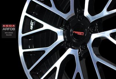 CR輪業 全新 ASGA ARF08 旋壓輕量化 19吋鋁圈 鋼琴黑髮絲 完工價:9000 5/112 5/114