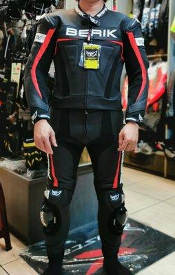 (二輪動力生活館)義大利 BERIK BK-LJ/P-01 2PCS SUIT打孔通風款 兩件式連身皮衣