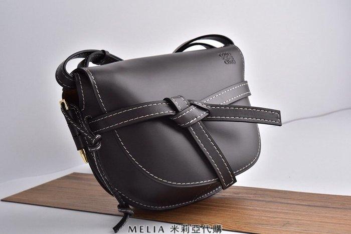 Melia 米莉亞代購 精品代購 2018ss 羅意威 Loewe nappa真皮 拚色 馬鞍包 黑色