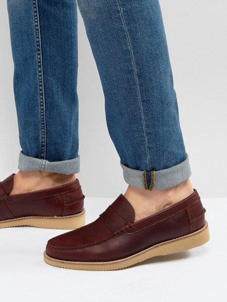 ◎美國代買◎ASOS橡膠鞋底學院風鞋面英倫休閒街風無鞋帶膠底皮鞋休閒鞋~歐美街風~有大尺碼喔