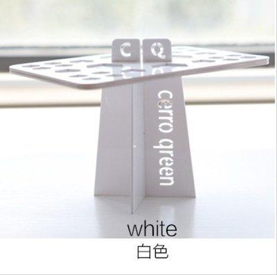 【愛來客 】Cerro Qreen(白色)化妝刷晾刷架 晾曬化妝刷 化妝刷架 洗刷晾刷架子