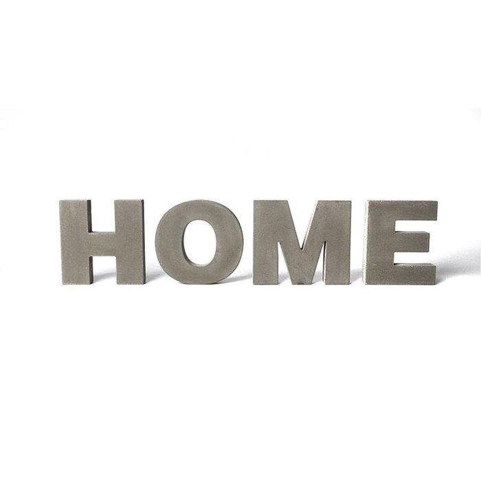 【凱洛詩家飾】 灰色水泥質感英文字母 數字擺件 混凝土擺飾 居家裝飾 輕工業風