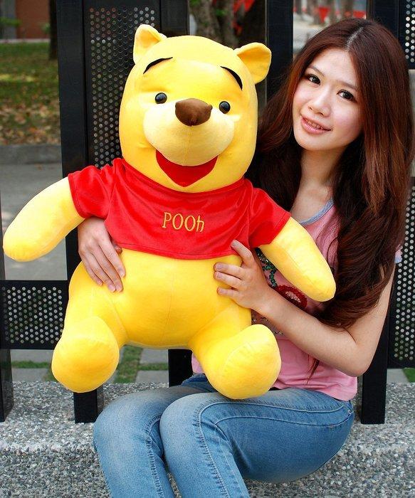 可愛小熊維尼娃娃~小熊維尼玩偶~高60公分~正版迪士尼~小熊維尼大娃娃~生日禮物