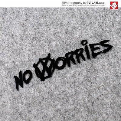_ NO WORRIES高爾夫GTI個性車尾裝飾反光貼 防水貼紙