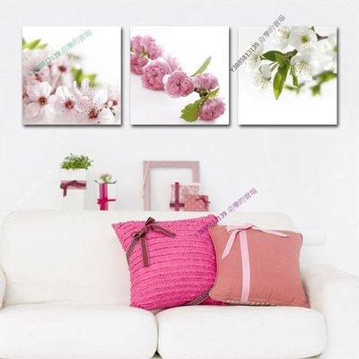 【50*50cm】【厚0.9cm】花卉-無框畫裝飾畫版畫客廳簡約家居餐廳臥室牆壁【280101_166】(1套價格)