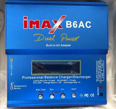 Imax B6AC Balance Charger Discharger Dual Power 航拍义電機