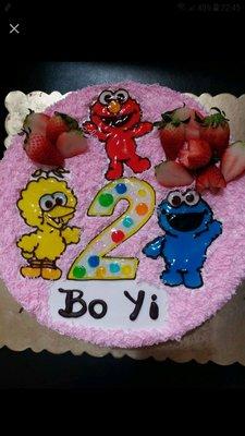 Co Cake - 平面畫公仔 芝麻街 sesame street Elmo 卡通 蛋糕 生日蛋糕 歡迎來圖訂做