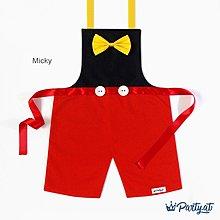 **party.at** 迪士尼 米奇 男孩兒童圍裙(有女孩款)2-8Y 萬聖節 聖誕節服裝 蝙蝠俠 蜘蛛人 超人 米妮