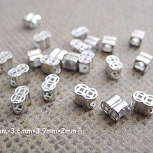 ☆ 惡魔小熊手創 925銀飾批發 ☆ 925純銀 DIY材料  雙古錢珠  配件 單顆
