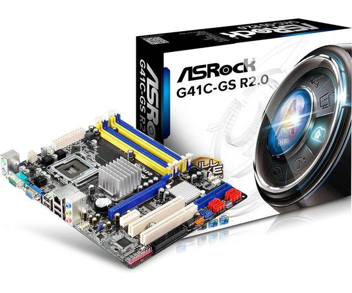 [哈GAME族]含稅 全新盒裝 華擎 ASROCK G41C-GS R2.0 主機板 775腳位 DDR2 & DDR3