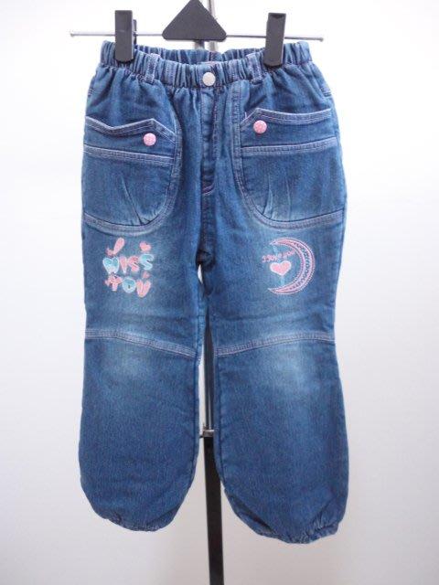 99元起標~女童刷毛保暖牛仔褲~藍色~SIZE:26