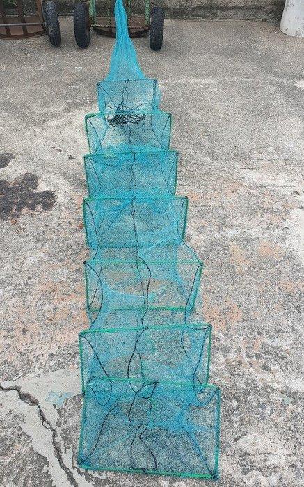 【休閒達人】小型小蝦籠2.5米 加粗鐵絲 * 有結網 * 小蜈蚣網 / 小蛇籠 / 小地籠