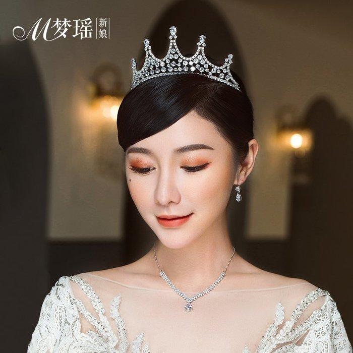 西柚姑娘雜貨鋪☛熱賣中#韓式皇冠時尚氣質女王婚禮皇冠精致公主儀式頭飾婚紗配飾