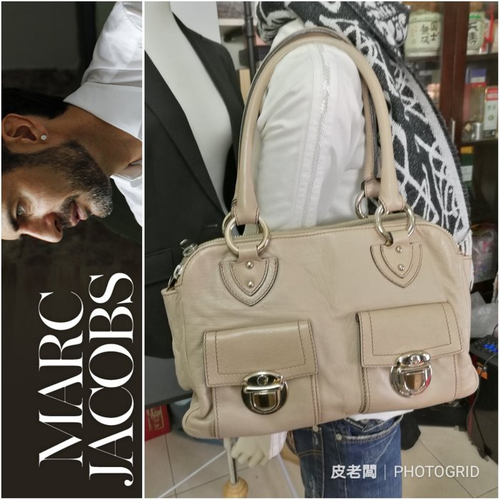 【皮老闆】二手真品 Marc Jacobs 手提包 肩背包 (C)