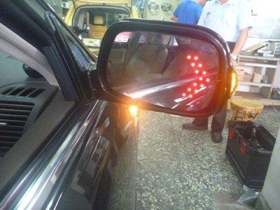 (柚子車舖) 2002-2006 CAMRY 5代/5.5代 鍍鉻雙箭頭LED方向燈後視鏡片 -可到府安裝 b