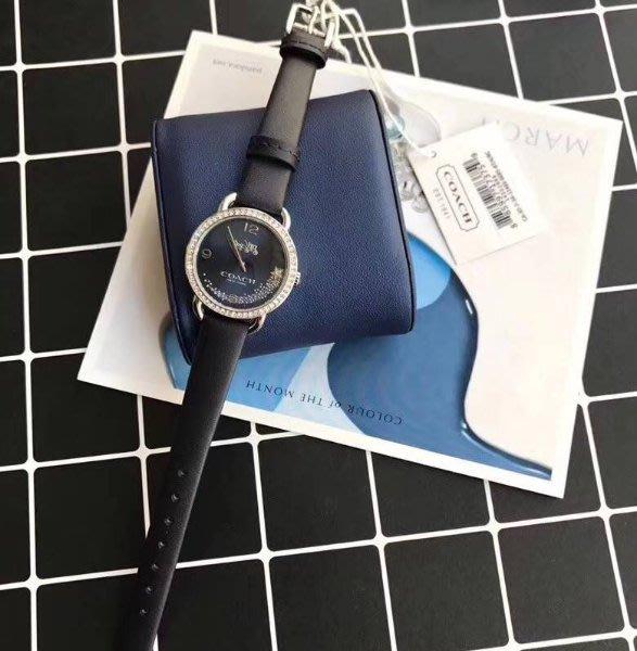 我愛名牌COACH包 美國100%正品【清倉低價出售購買兩件免運】錶盤28mm潮流时尚複古真皮女錶