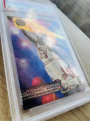 1997 Metal Universe 紅寶 綠寶PMG原型正規卡 Michael Jordan PSA 7 喬丹鑑定卡