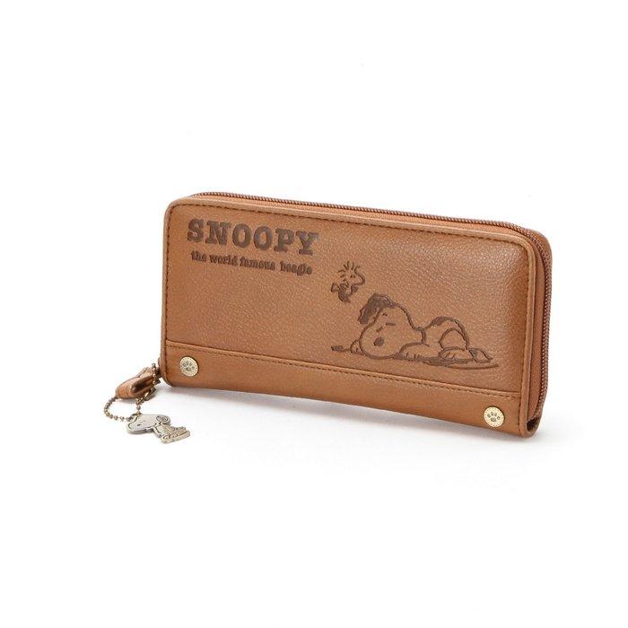 snoopy 史努比《預購》合成皮革大容量拉鍊式長夾~日本正品~共3色~心心小舖
