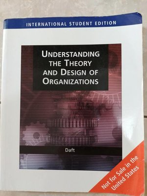 (31)《Understanding The Theory And Design Of Organizations》